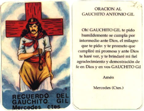Estampa del Gauchito Gil
